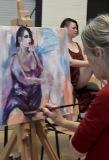 Hanny schildert het model