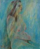 Nude Dancer in spotlight