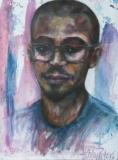 Portret van jonge student D.