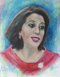 Vrije verbeelding portret van  Kadija Arib (eigen foto)