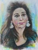 Vrije verbeelding portret van Lita Cabellut (eigen foto)
