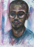 Portret van jonge student D. - live study