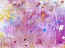 Lila-rose sterrenhemel